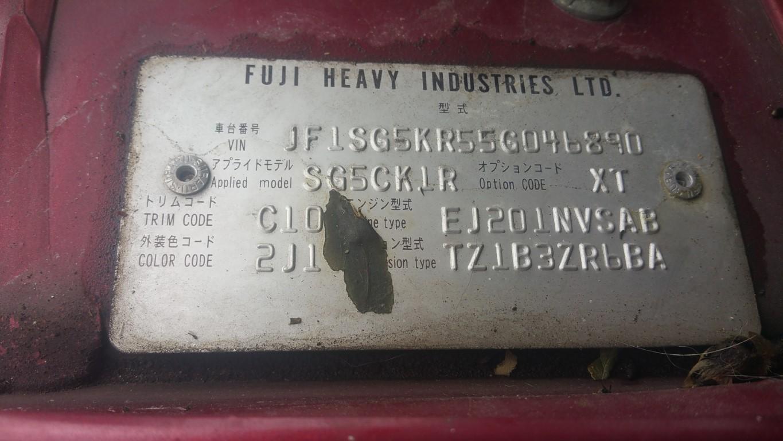 ref 14 subaru forester 2.0 x petrol 2004 automatic